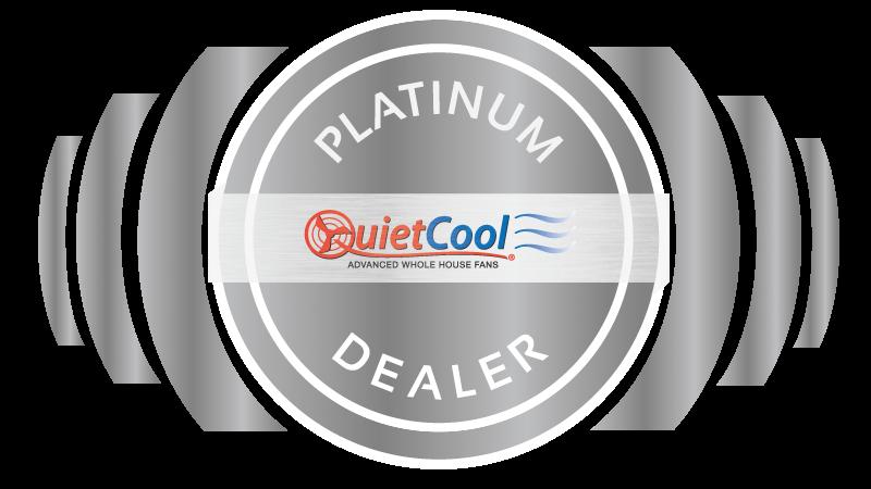 quietcool platinum dealer badge